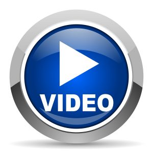 blue video play icon