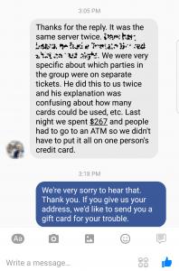 Facebook good customer service