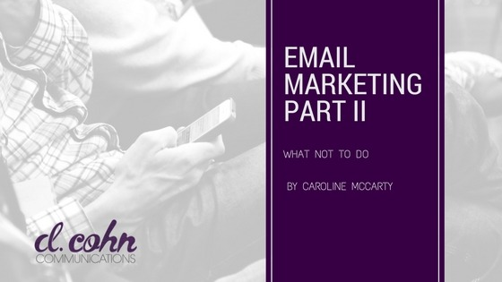 Email Marketing What Not to Do